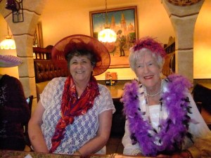 Red H. Loretta H. on left with Dora p. on right, May, 2013