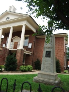 Patrick County Courthouse with JEB Stuart memorial