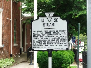 Stuart Virginia, historical marker