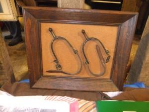 Soangler, display of spurs, worn by Tump, see story separately
