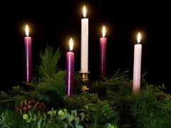 Advent wreath with Christ candle