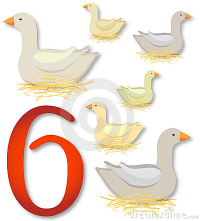 On the Sixth Day of Christmas, My True Love gave to me Six Geese a ...