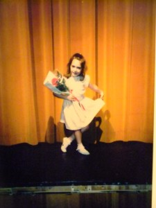 Annie Holshouser takes a bow after ballet, @ 1986