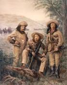 Omohundro, Ned Buntline, Buffalo Bill Cody, and Texas Jack in 1876.