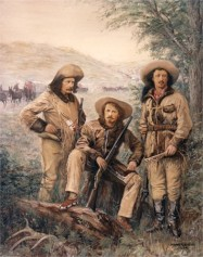 Omohundro, Ned Buntline, Buffalo Bill Cody, and Texas Jack in 1876.