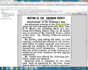 Kerse, Robert, hibernian Society, p.1