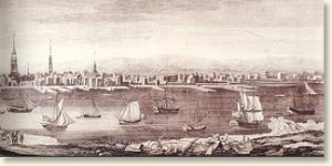 Port of Philadelphia, mid 1700's,