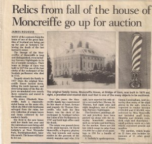 Douglas Moncrief, House of Moncrief, newspaper article