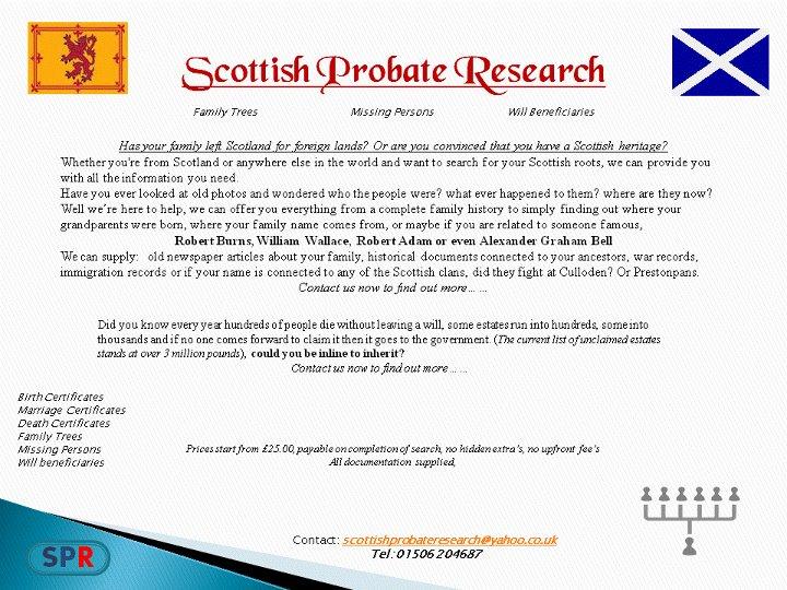 Douglas Moncrieff -- Scottish Genealogist and Superhero to Many Around the World!  (6/6)