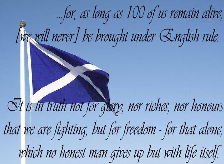 Douglas Moncrieff, Scottish Flag