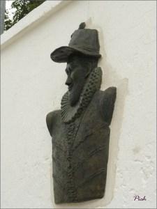 Nicholas Martiau,  le buste de Nicholas Martiau, oeuvre du sculpteur Desire Bardot