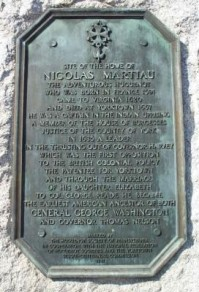 Nicholas Martiau Marker at Yorktown, Va.