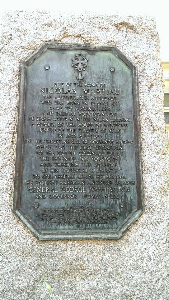Nicholas martiau plaque , pic. by Greg Orcutt, May, 2014