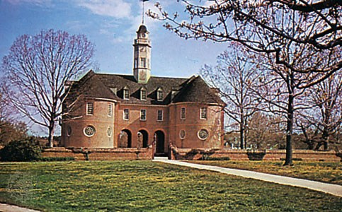 Henry Cary, built this original capital building in Williamsburg, Virginia, 1705