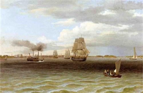 Philadelphia Harbor in the 1700s