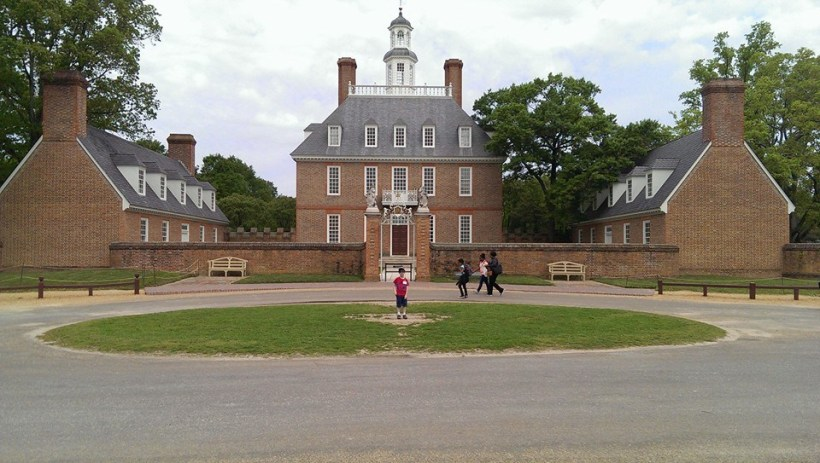 Williamsburg, Va. Liam in front of Governor's Palace