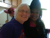 Lorna Harris and Linda McLaughlin (l) are happy to see each other!