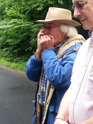 "Pat Spangler plays harmonica while Cecil and the group sing ""Down by the beautiful river""!"
