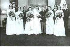 Nancy Kerse and Bob Guthrie wed in 1942, sisters attend !