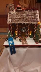 Annie Holshouser's first gingerbread house wins the blue ribbon, Dec. 2013