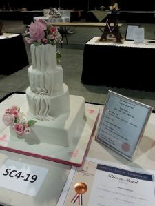 Annie's first wedding cake wins a bronze medal!  March 31, 2014