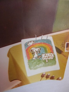 Baker Max and cake with Snoopy for 3 y o Ali