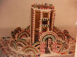 Baker Max gingerbread tower