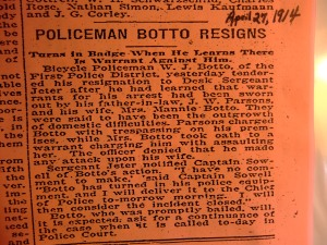 Botto, Wm Joseph resigns as cop due to domestic violence