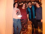 1996- l to r, Ali, Helen, Max, and Annie (chose to be called Annie not Maggie at 14)