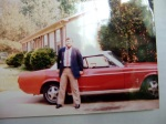 Max with beloved 1967 Mustang!