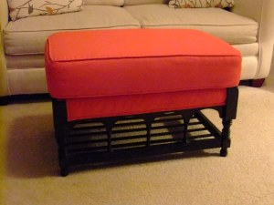 Max's ottoman built in 1974, still in use in his home in 2014, 40 years old!