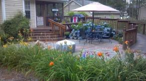 Patio with flowers, file pic