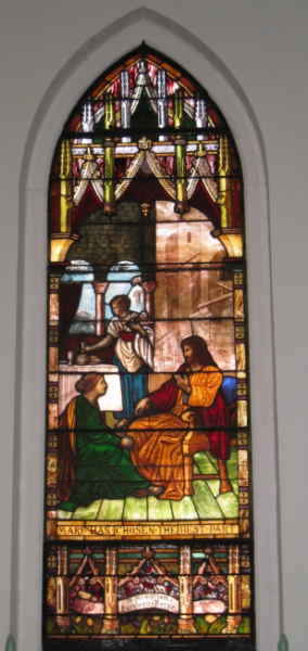 Stained glass window dedicated to Katie Kerse