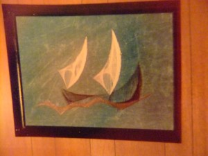 String Art by Max, sailing ship