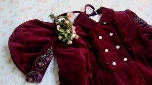 velvet coat, marron