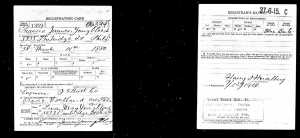 Youngblood, Frank, Draft Registration Card for WW1