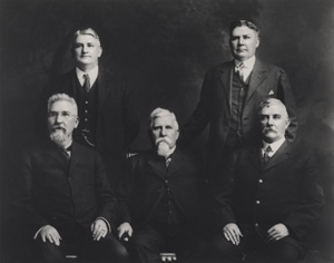 Richard Joshua, Sr. Abram, and Harbour.  standing, from left...Walter and Will .about 1915 From the Patrick Reynolds Collection; no copyright.abt.1915