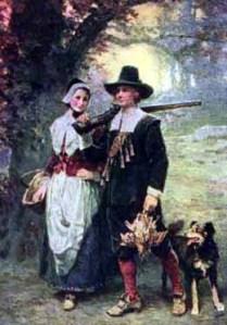 John Alden and wife Priscilla Mullins, Mayflower pilgrims,