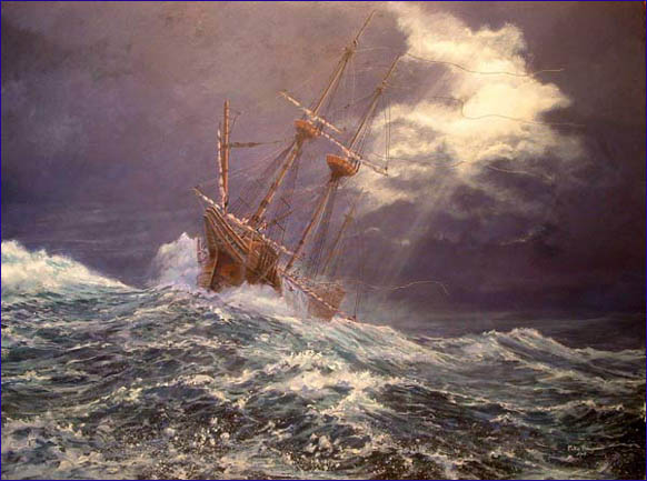 Mayflower by Mike Haywood, The Seas Were So High