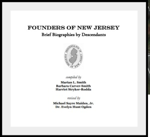 Founders of New Jersey by Evelyn Hunt Ogden
