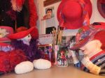 Helen's study with red hat stuff