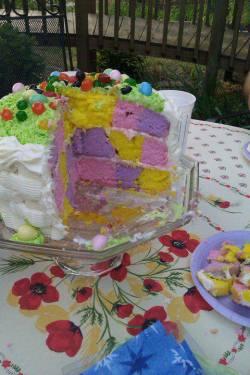 Cake, Easter basket weave