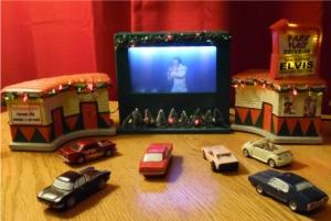 Elvis Drive in Theater blue screen