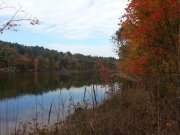 Falls Lake, 2013, Fall color, by Greg Orcutt