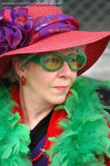 Red hatter at St. Patrick's Day