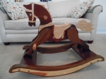 The rocking horse Max made for the grandkids.