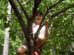 Liam loves climbing trees!