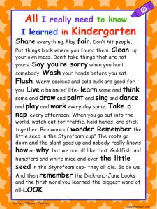 Kindergarten all I ever needed to learn