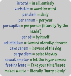Latin phrases, latinsuitcase.com