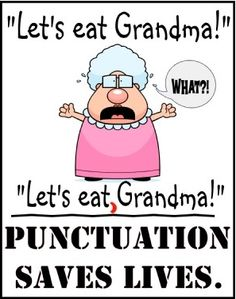 Teaching English, punctuation matters